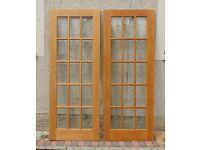 Hard wood door 15 panes **REDUCED**