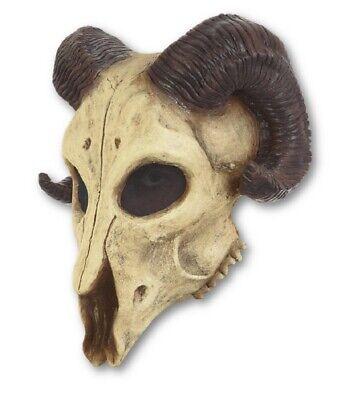 Ram Skull Mask (Ram Skull Adult Latex Mask Skeleton Horned Beast Halloween Costume)