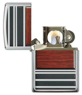 Zippo Steel and Wood Lighter With Pipe Lighter Insert,  28676, New In Box