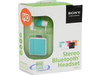 Sony SBH20 Stereo Bluetooth Headset With Earphones Boxed