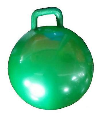 Green Ride (1 GREEN RIDE ON BOUNCING HOP BALL WITH HANDLE jump toy fun bounce kids)