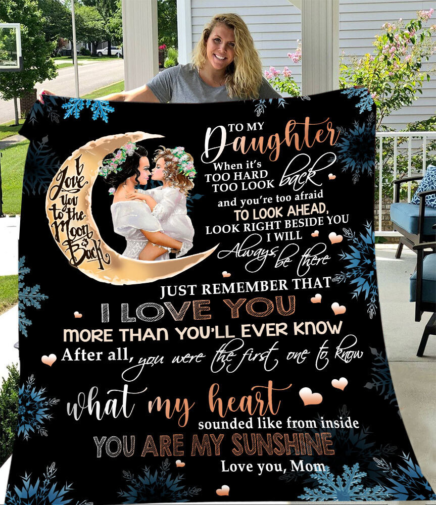 Fleece Blanket To My Daughter From Mom Perfect Gift Moon - $31.99