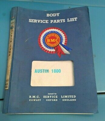 Austin 1800 Genuine BMC Bodyshell and parts manual list
