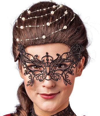 erling - Schwarz - Karneval Maskenball Halloween Gothic (Maskenball Halloween)