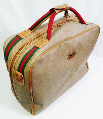 Vintage Authentic Gucci Carry-On Travel Suitcase Luggage Bag
