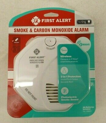 First Alert Z-Wave Smoke & Carbon Monoxide Detector  Battery Powered Alarm Carbon Monoxide Detector Battery