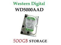 """Western Digital Caviar Green 500GB Internal or External,7200 RPM,3.5"""" WD5000AADS HARD DRIVE"""