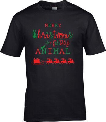 Merry Christmas You Filthy Animal T-SHIRT Funny Family Christmas Gift](Funny Animal Christmas)