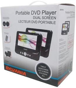SYLVANIA DUAL 9 INCH WIDESCREEN DVD PLAYERS - drive in peace while the kids watch videos !!!