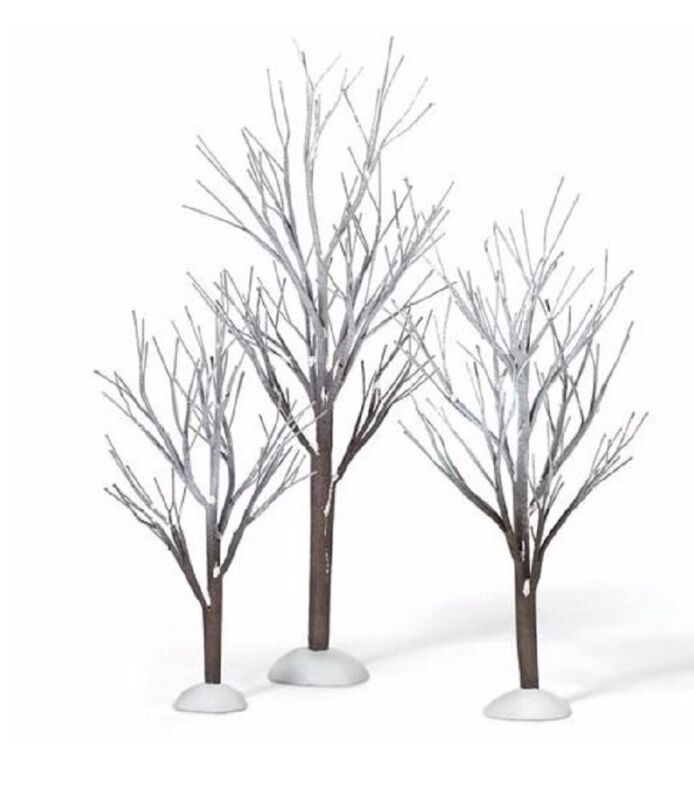 Department 56 Snow Village First Frost Trees Accessory Figurine Set 800007