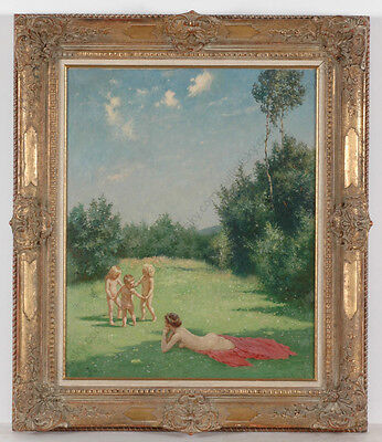 """Walther Witting (1864-1940) """"Summertime"""", 1925, Oil on Canvas"""