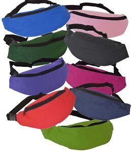 Euro-Brand-New-Bum-Bag-Belt-Bag-9-Great-Colours-Hip-Pouch-Fanny-Pack