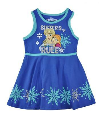 Disney Character Clothes (Disney Frozen Girls Sleeveless Character Print Dress  Size 2T 3T 4T 4 5 6)
