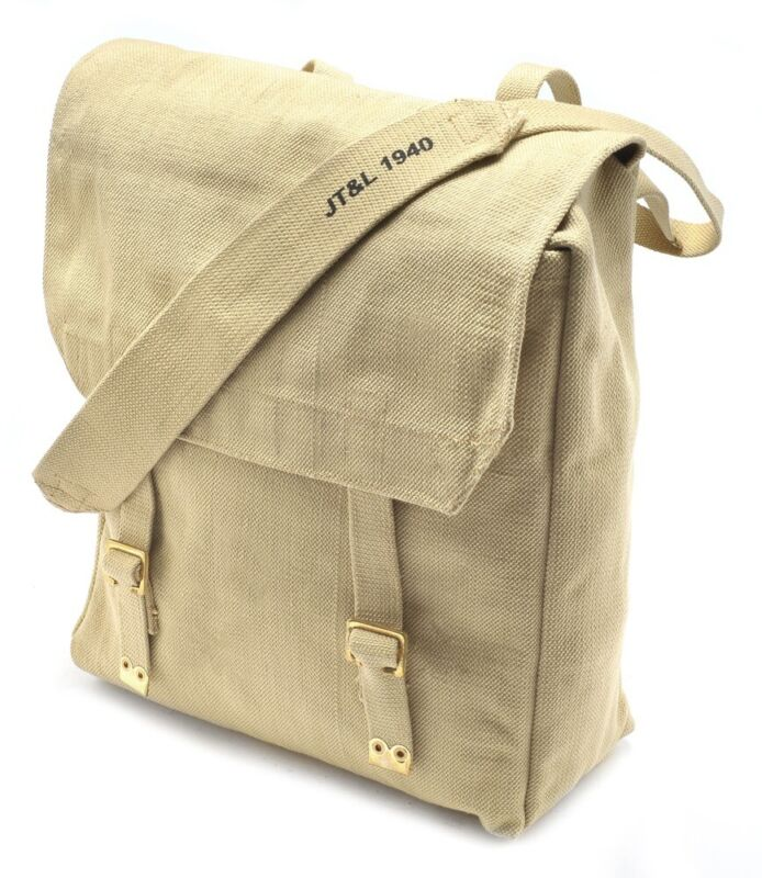 WW2 Large British P37 Pack with shoulder strap Marked JT&L 1940