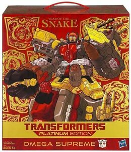 HASBRO TRANSFORMERS PLATINUM EDITION YEAR OF THE SNAKE OMEGA SUPREME IN STOCK