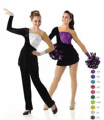 Dynamite Dance Costume Sequin Tunic/Top/Dress Only No Briefs CHOICE Color & Size - Dynamite Costume