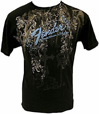 "Genuine Fender Guitars ""Heaven's Gate"" Short Sleeve T-Shirt Black"