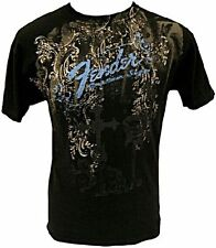"""Genuine Fender Guitars """"Heaven's Gate"""" Short Sleeve T-Shirt Black"""