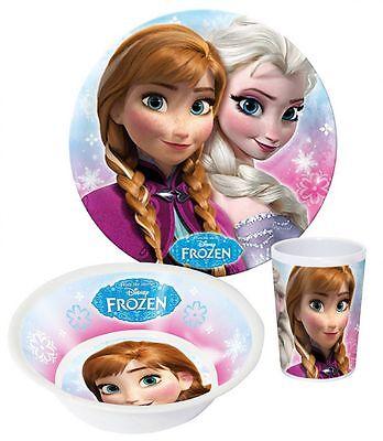 Disney Frozen Elsa Anna Geschirr Melamin Teller Becher Müslischale Kinder #49