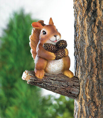 Gathering Squirrel Tree Decor Indoor/Outdoor Garden Yard Por