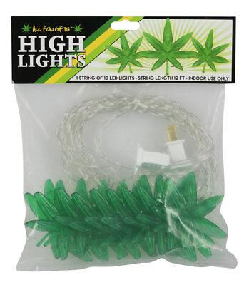 All Fun Gifts High Lights - Hemp Leaf String Light