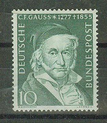 BRD Briefmarken 1955 Gauss Mi.Nr.204**postfrisch