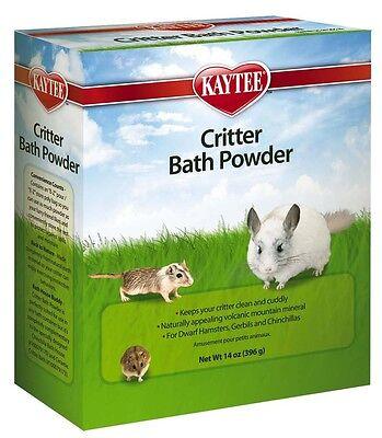Kaytee Critter Bath Powder 14oz Small Animals Chinchilla Hamster Gerbils