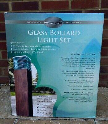 Glass Bollard Light Set - Set of 2 (1 Pair) - Creative Living - New