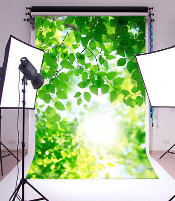 Vinyl Photo Backdrops Spring Green Leaves Photography Background Studio Props