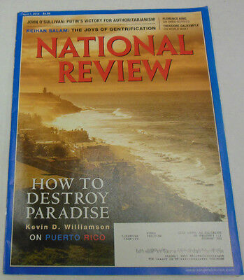 National Review Magazine How To Destory Paradise April 2014 071814R