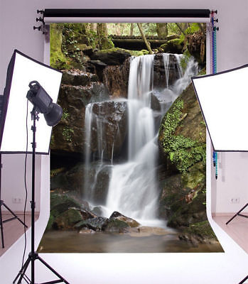 Backdrops Spring Waterfall Photography Background 4x6Ft Prop Vinyl