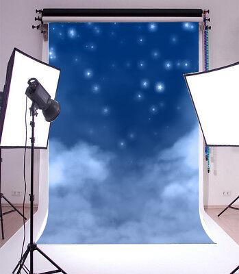 Vinyl Photo Background Cloud Starry Sky Scene Backdrop Studio Portrait Prop 5x7