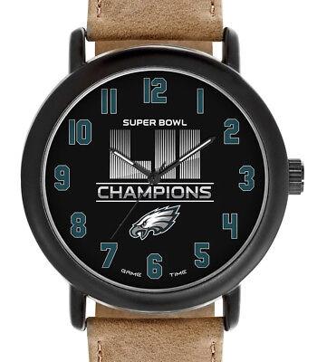 Philadelphia Eagles Super Bowl Lii 52 Watch Gametime Mens Tbk In Hand Ships Now