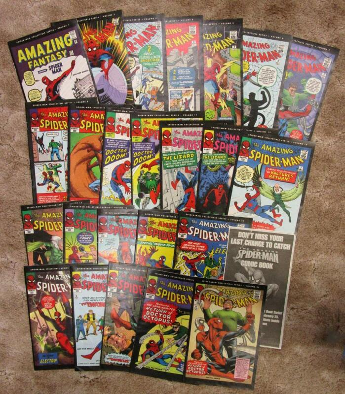 AMAZING SPIDER-MAN COLLECTIBLE NEWS MARKETING Comic Book Series Vol. 1-24