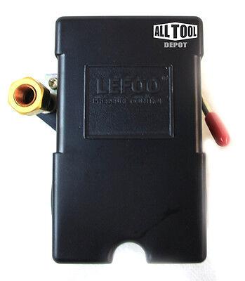 Lefoo Air Compressor Pressure Switch Control Valve 95-125 Psi 1 Port 26a