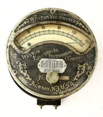 Antique Weston Voltmeter Late 19th Century Scarce 0-150 V