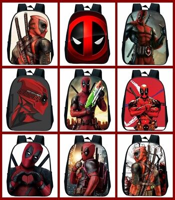 Anime Deadpool 3D Print Backpack For Children Boys Girls Bag Best Gift