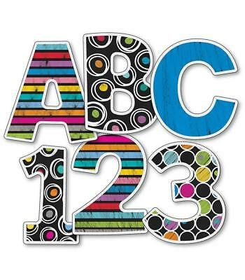 (CD 130059 Colorful Chalkboard 4 Inch Bulletin Board Letters Classroom Decoration)