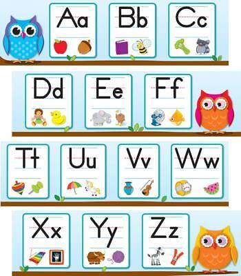 Colorful Owls Alphabet Mini Bulletin Board Set Carson Dellosa CD-110263