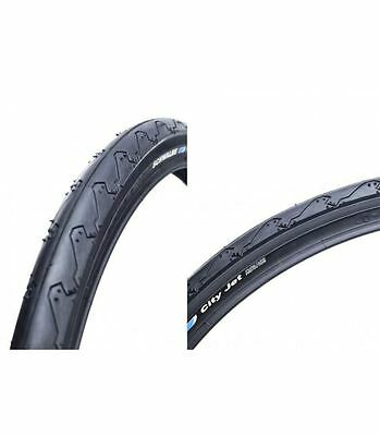 Schwalbe City Jet 26 Mountain Bike Slick Sport Fast Rolling Bicycle Tyre 26 x 1.50 PAIR