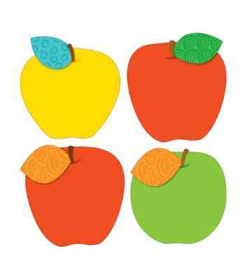 CD 120116 Colorful Fall Apples Cut Outs Bulletin Board Classroom Decorations  - Fall Classroom Decorations