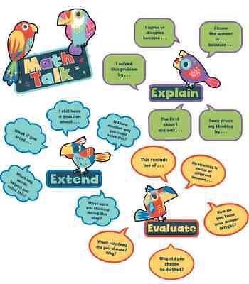 CD 110388 Math Talk Math Skills  Mini Bulletin Board Set Classroom Decor ()
