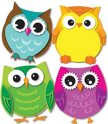 Carson CD-120195 COLORFUL OWL MINI CUT OUTS NEW CLASSROOM DECORATIVE