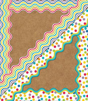 Rainbow Bulletin Board (CD 108186 Color Me Bright Rainbow 2 Sided Bulletin Board Trimmer)
