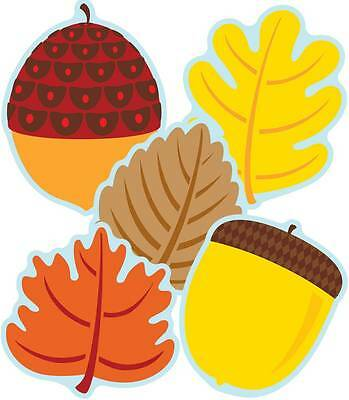 CD 120174  Fall Leaves and Acorns Cut Outs Classroom Decorations - Fall Classroom Decorations