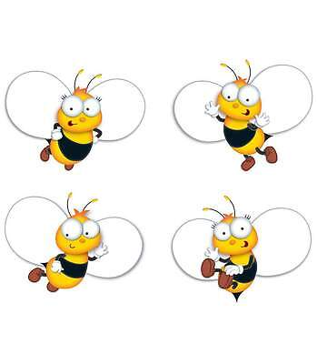 CD 120168 Buzz Worthy Bees Bulletin Board Cut Outs Classroom Decorations