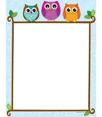 Decorative Computer Paper - CD 118118 Colorful Owls Decorative Computer Paper Teaching Supplies