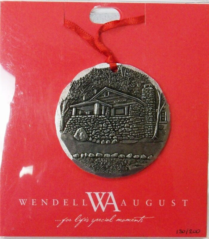 Wendell August Jesus at Forest Home Christmas Ornament Biltmore Cabin