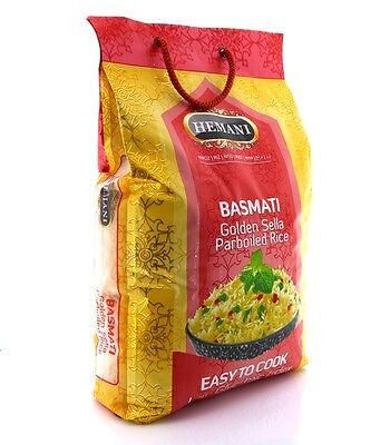 Hemani 100% Natural Golden Sella Basmati Parboiled Rice 10lbs *US Seller* F/S !!