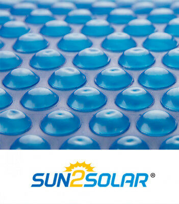 Sun2solar  Round  Oval Rectangle Swimming Pool Blue Solar Blanket Cover   12 Mil
